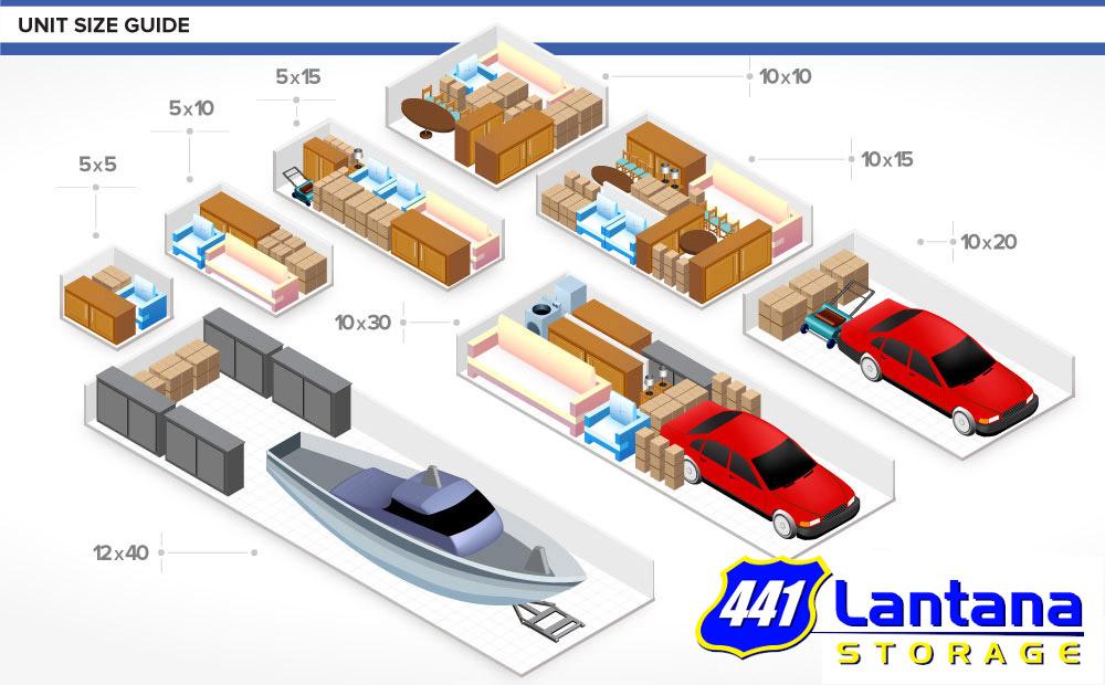 Self Storage Unit Sizes And Pricing 441 Lantana Storage